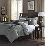 Madison Park Dune Comforter Set, Queen, Grey