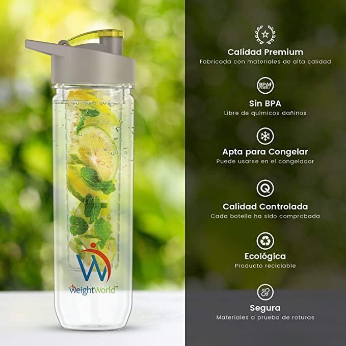 Weight World Botella Infusor - Disfruta De Tus Bebidas Favoritas ...