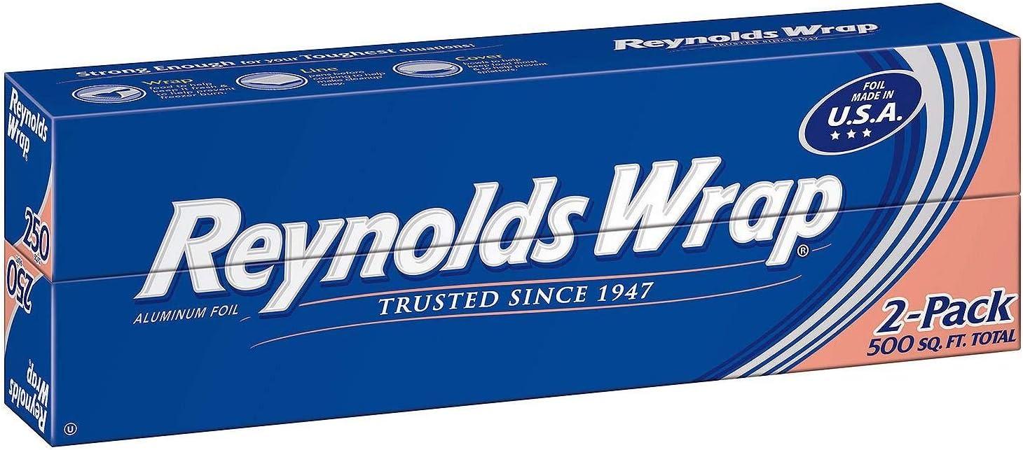 "Reynolds Wrap 12"" Aluminum Foil, 250 sq. ft (2 ct.) - (Original from manufacturer - Bulk Discount available)"