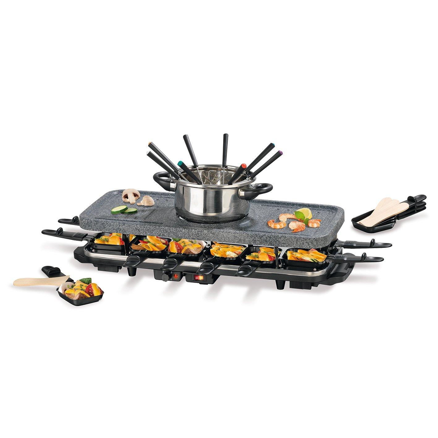gourmetmaxx 00972Raclette and Fondue Set 38Pieces | 1600| Fondue Raclette Table | W 09722