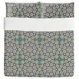 Moroccan Splendor Duvet Bed Set 3 Piece Set Duvet Cover - 2 Pillow Shams - Luxury Microfiber, Soft, Breathable
