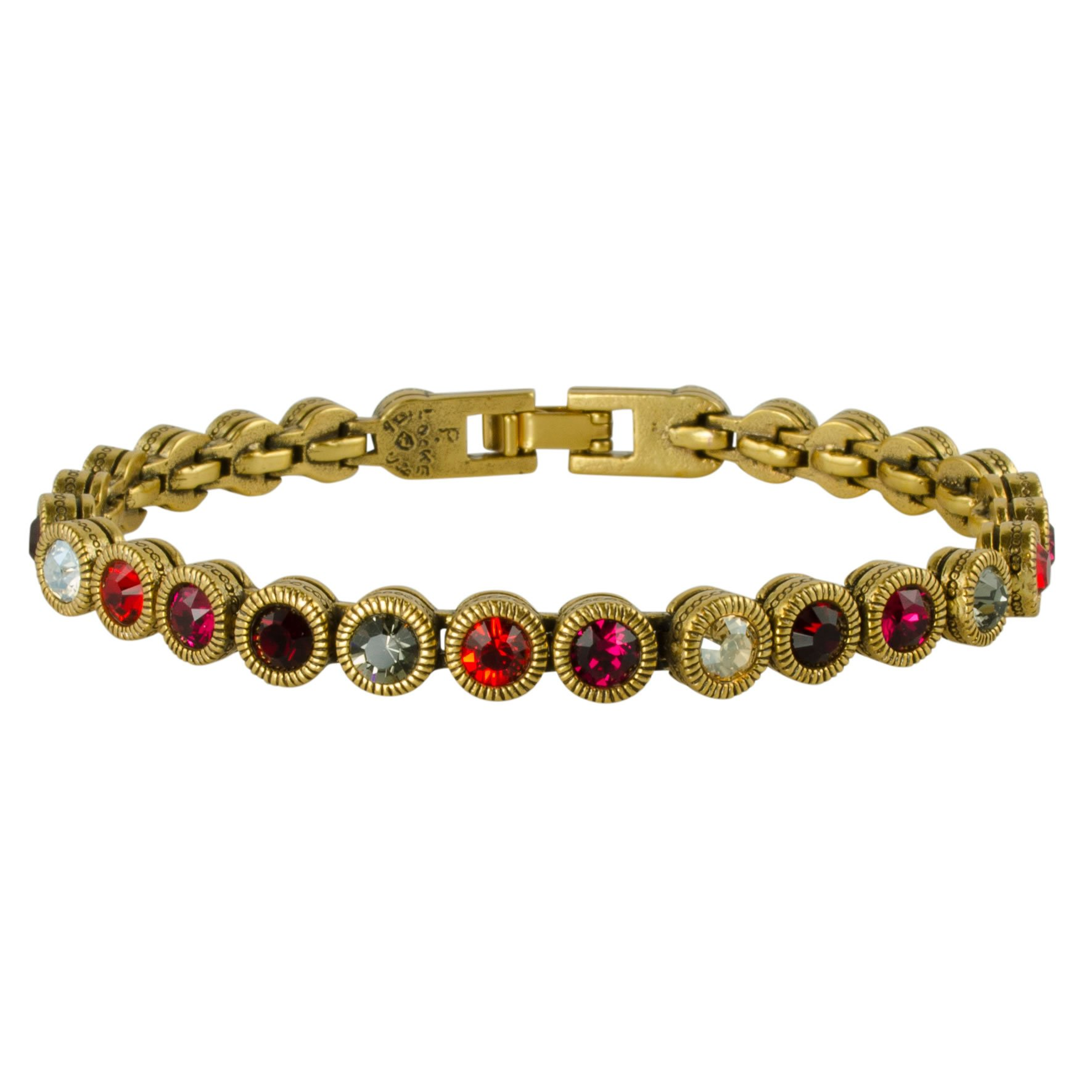Patricia Locke Game, Set, Match Bracelet in Gold, Ravishing Red Color Story
