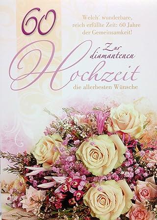 A4 Xxl Glückwunschkarte Zur Diamantenen Hochzeit Erfüllte Zeit 60