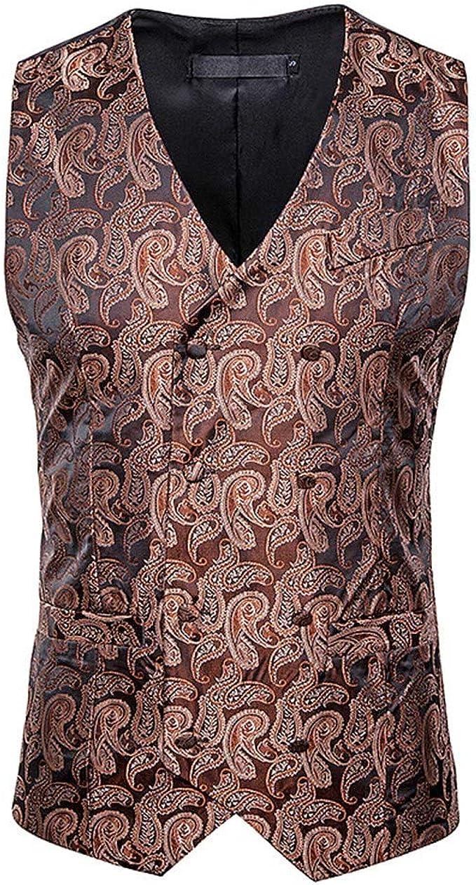 TOPGEE Mens Casual Slim Fit Skinny Dress Vest Waistcoat