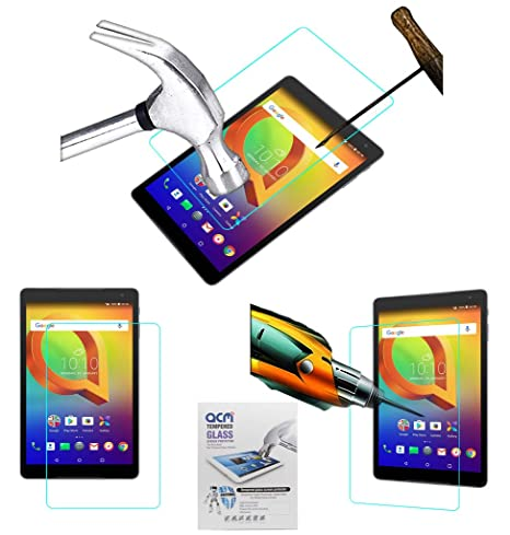 Acm Tempered Glass Screenguard Compatible with Alcatel A3 10 Screen Guard Scratch Protector Tablet Accessories