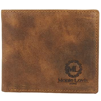 cb7e68109867b Monte Lovis Herren Leder Geldbeutel Geldbörse  quot Marco quot  mit  Organizer für 9 Kreditkarten und