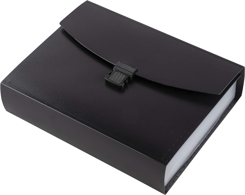 professionnel Dossier extensible 26 poches Accord/éon Dossier Organiseur de dossiers avec poign/ée fournitures de bureau Organiseur de dossiers extensible en plastique pour documents format lettre