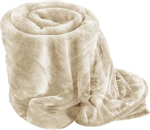 De luxe doux fourrure jeter couverture pour lit canapé simple double king