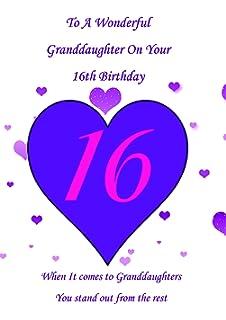 Granddaughter Happy 16th Birthday Card