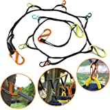 Outdoor Camping lanyard with Hook, Camping Rope Outdoor Storage Rope Outdoor Travel Camping Clothesline Camping Outdoor Tent Accessories Can be Hung Various Sizes of Kettles, Mugs, Mugs, Pots, Bowls