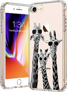 BICOL iPhone SE2 Case 2020,iPhone 7 Case,iPhone 8 Case,Clear with Design for Girls Women,Slim Fit Protective Phone Case for Apple iPhone 7/iPhone 8/iPhone SE2 Cool Giraffe