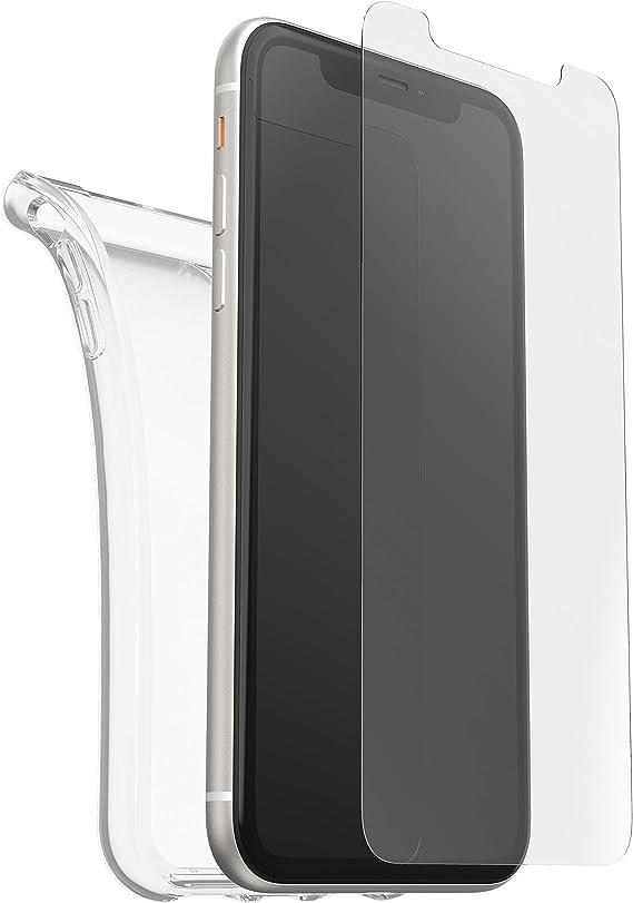 Otterbox Clearly Protected Skin Bundle Extra Slim Silikon Schutzhülle Performance Glas Display Schutzglas Geeignet Für Apple Iphone 11 Transparent Elektronik