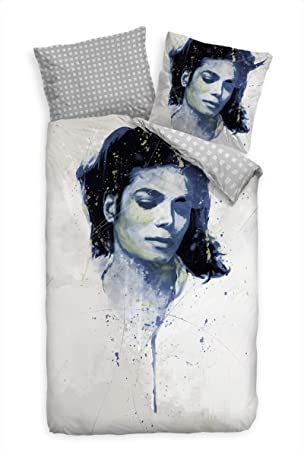 Paul Sinus Art Bettwäsche Set 135x200 Cm 80x80cm Michael Jackson