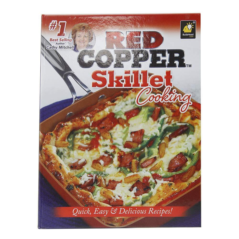 Rojo cobre sartén cocina libro de recetas de Cathy Mitchell por ...