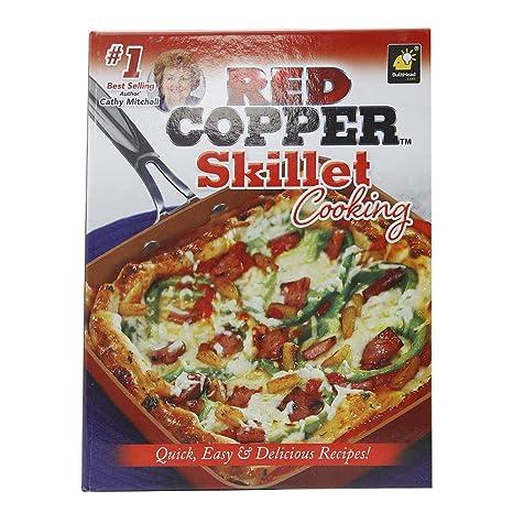Rojo cobre sartén cocina libro de recetas de Cathy Mitchell por Bulbhead
