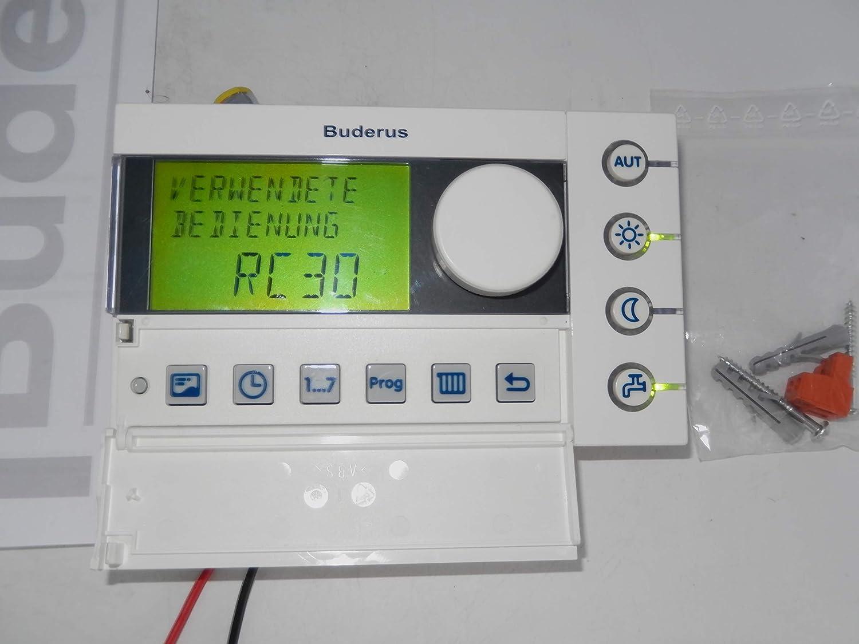 Buderus RC30 EMS T/él/écommande avec kit de montage et manuel PDF