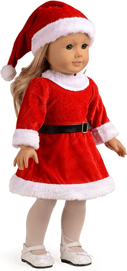 Fashion Christmas Clothing For 18 Inch Baby Girl Doll Clothes L5L4 M6Z3