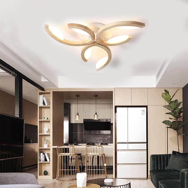 ZXM LED Modern Deckenleuchten Holz Geweih Design Dimmbares