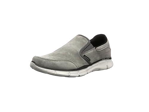 Skechers 51502 EQUALIZER-MIND GAME Mens Suede Slip On Loafers Shoes Navy Blue