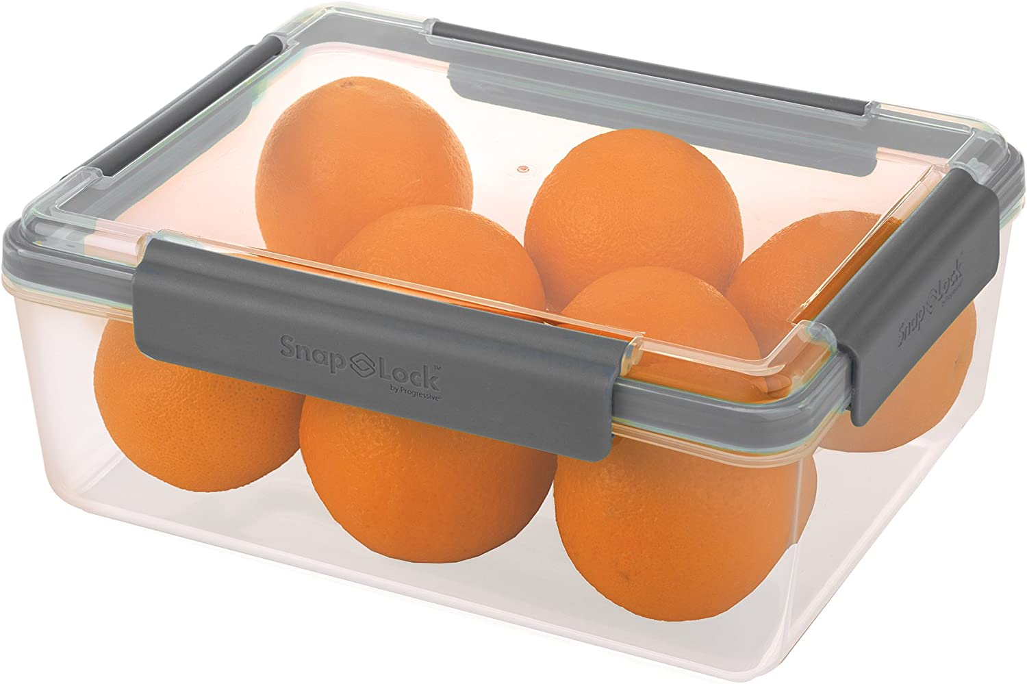 SnapLock by Progressive 20-Cup Container - Gray, SNL-1011GYEasy-To-Open, Leak-Proof Silicone Seal, Snap-Off Lid, Stackable, BPA FREE