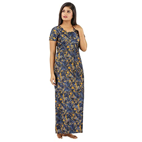 00e0537985 Sowbarnigha Nighties Women s Nighty XXL Multicolor  Amazon.in  Clothing    Accessories