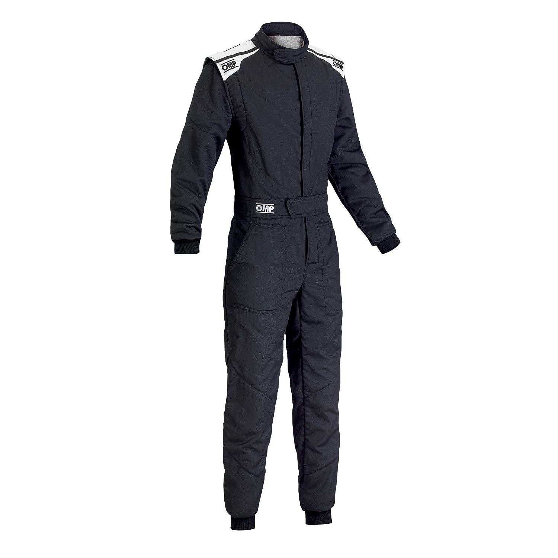 [正規品] OMP FIRST S(ファーストS)MY2017 サイズ50 レーシングスーツ ブラック FIA公認 B078MWSJ7T