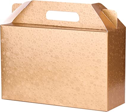 Small Gold Gift Box Jewellery Box Present Box Pack Of 6