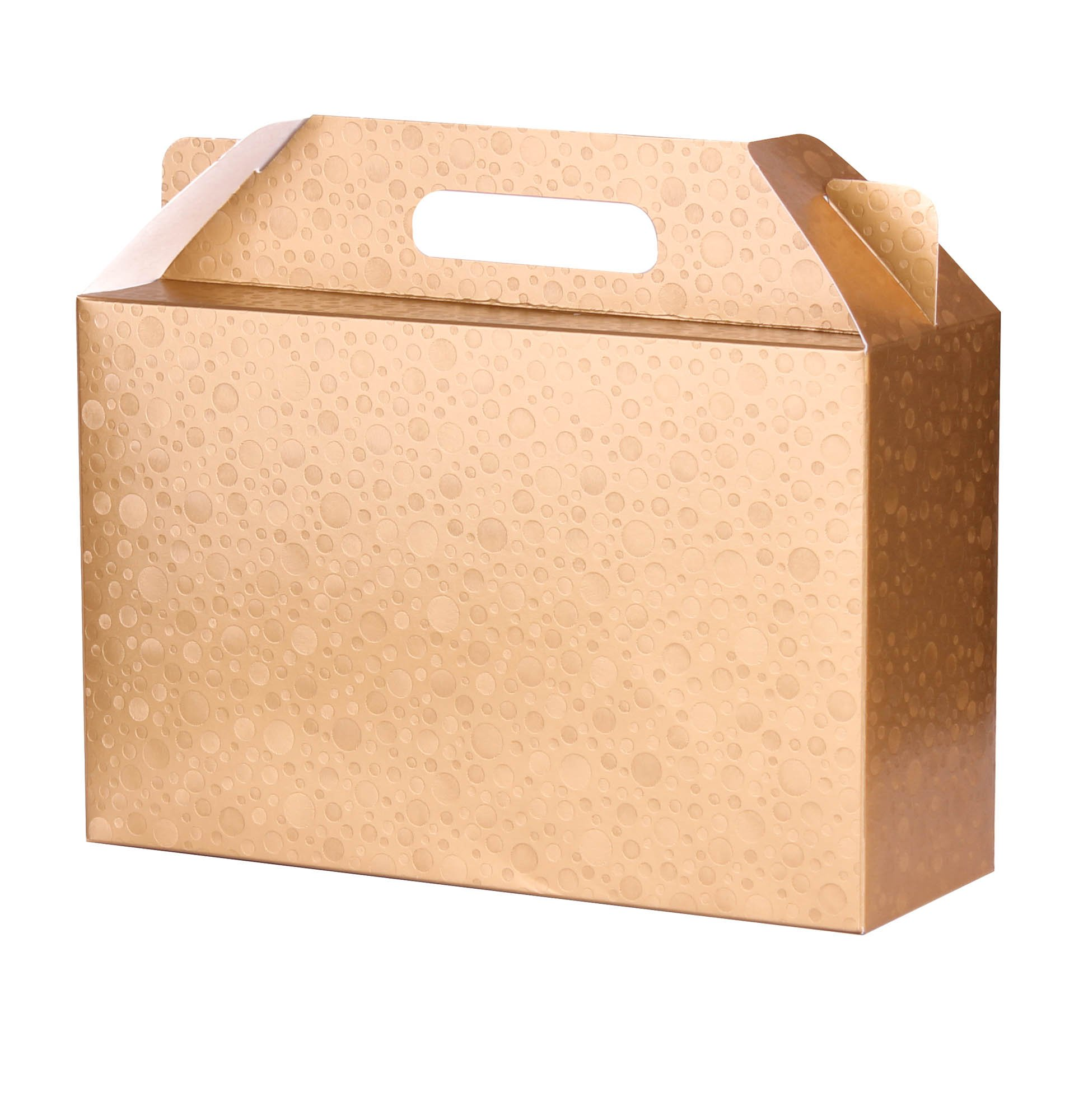 Decorative Gold Craft Cardboard Gift Boxes Set of 6 with Lids and Handle 11x7x4 in for different Occasions like Holiday Wedding Birthday Christmas bridesmaid party Free: TOP TIPS around Gift Giving