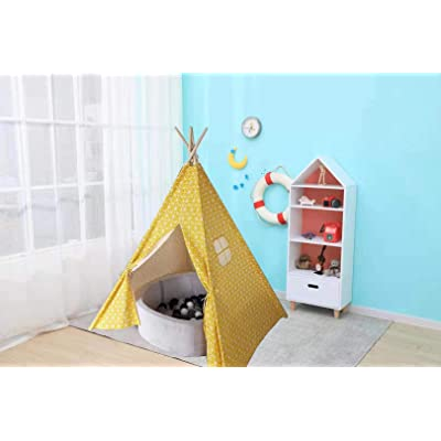 SNOW MountainSnow Indian Teepee Tent, 100% Natural Cotton Linen Canvas Teepee Tent, Perfect for Gift (YellowTriangle): Kitchen & Dining