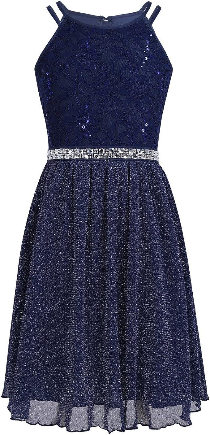 iEFiEL iEFiEL Festliches Kleid Mädchen Spitzen Prinzessin Kleid