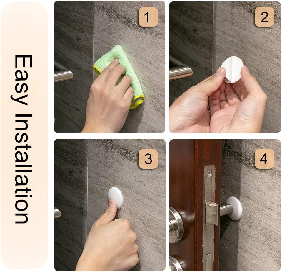 Door Handle Bumper with Self Adhesive for Protecting Wall Doorknobs 8Pcs Door Stopper Wall Protector Round Door Knob Wall Shield