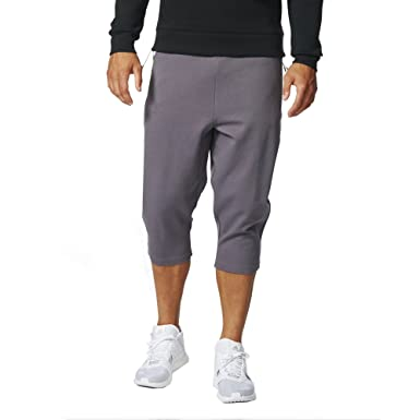 adidas Mens Z.N.E. Three-Quarter Pants (Small) Trace Grey