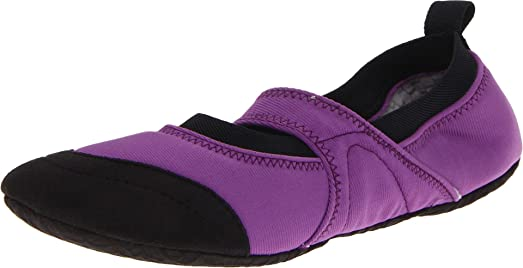 Good Acorn Womenu0027s Tech Travel Mary Jane Flat,Grape,Small/5 6 M