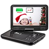 "Amazon Price History for:DR.J 5 Hours 10.5"" Swivel Screen Portable DVD Player with Built-in Rechargeable Battery and USB/SD Card Reader, 5.9ft/1.8M Car Charger & Battery Adapter"