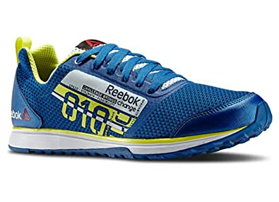 570e038b7f9d Reebok Mens Crosstrain Sprint TR Mens Running Shoe Impact Blue Reflection  Blue Hi Vis
