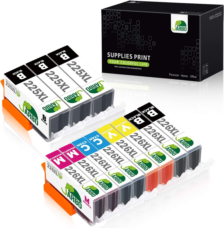 JARBO Compatible Ink Cartridge Replacement for Canon PGI-225XL CLI-226XL 11 Packs (3 PGBK 2 Black 2 Cyan 2 Magenta 2 Yellow) Used in PIXMA MX892 MX882 MG5220 IP4820 IX6520 MG5320 MG6220 MG8220