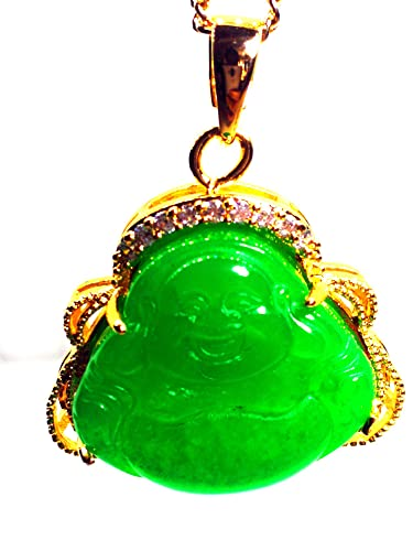 Yigedan finish iced out green jade buddha pendant chain necklace yigedan finish iced out green jade buddha pendant chain necklace aloadofball Gallery