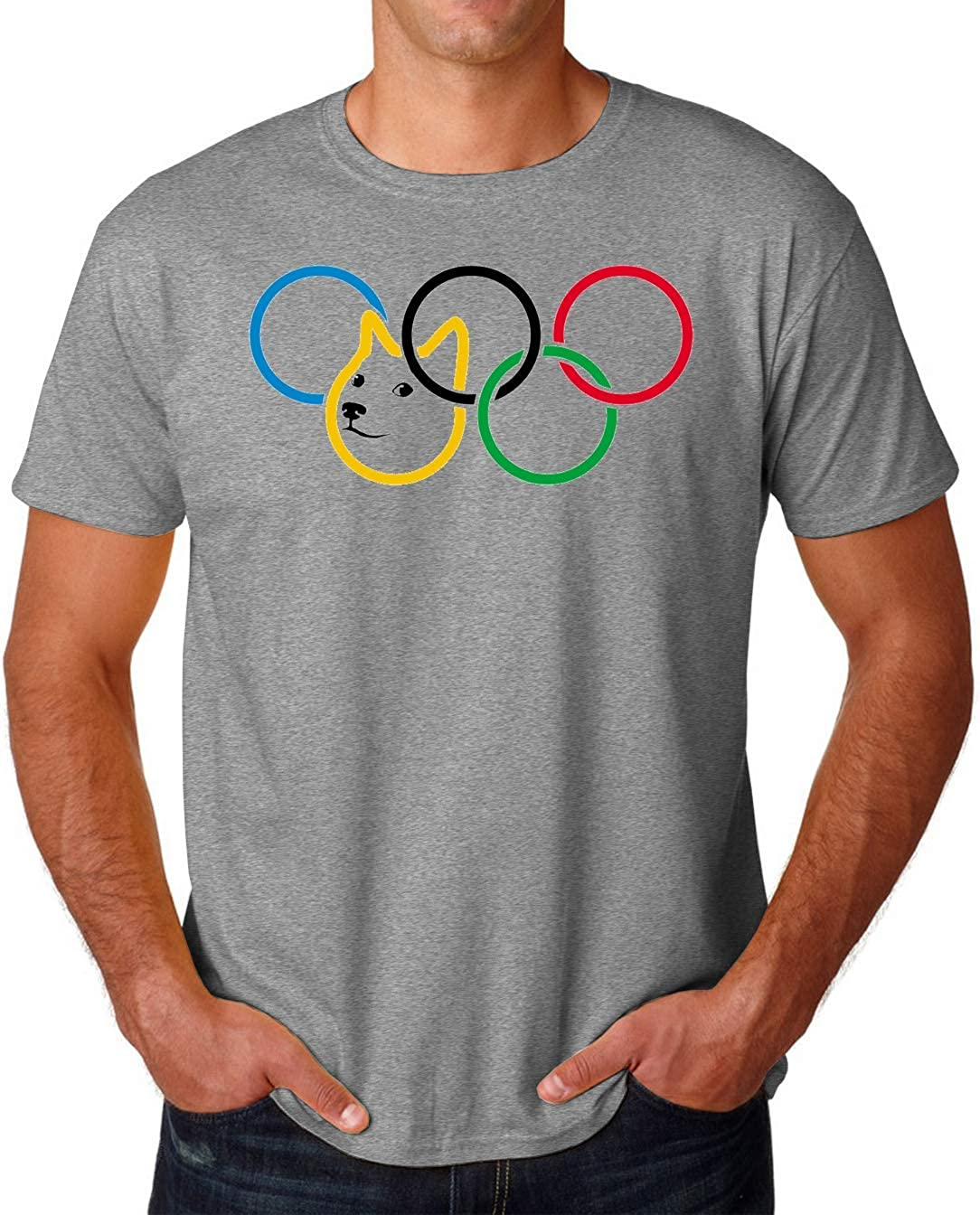 PasTomka Olympic Doge Dog Meme Rings Mens T-Shirt Hombre Camiseta Large: Amazon.es: Ropa y accesorios