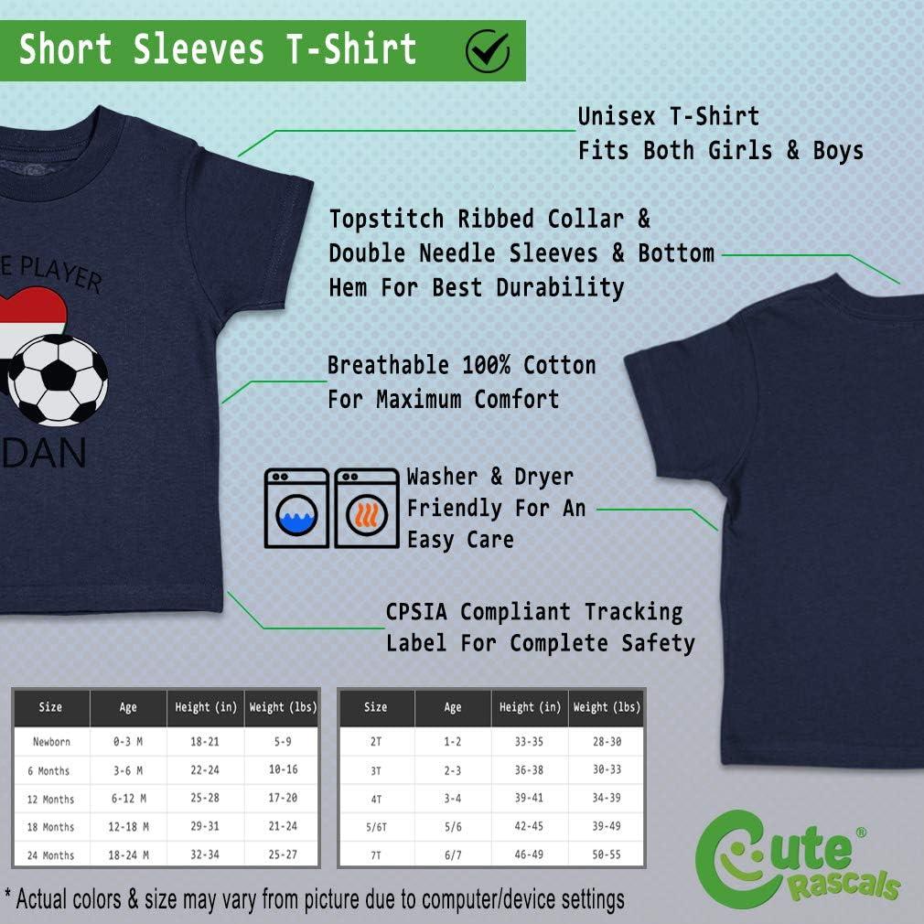 Custom Baby /& Toddler T-Shirt Future Soccer Player Sudan Cotton Boy Girl Clothes