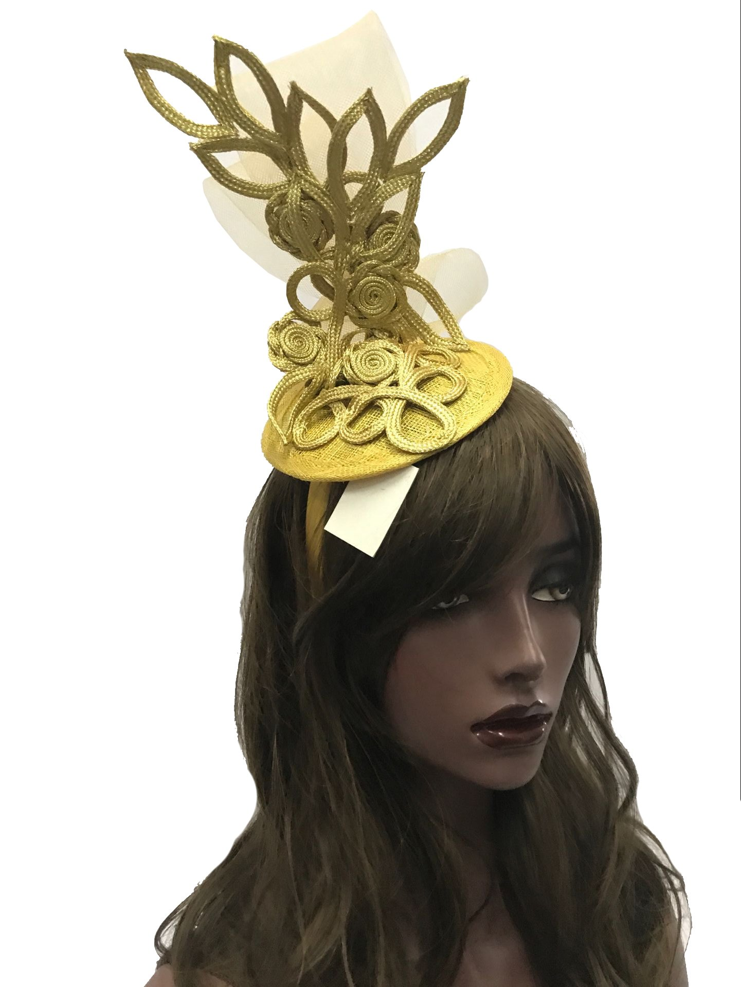 ABPF Fascigirl Sinamay Fascinator Hat Feather Party Pillbox Hat Flower Derby Hat for Women