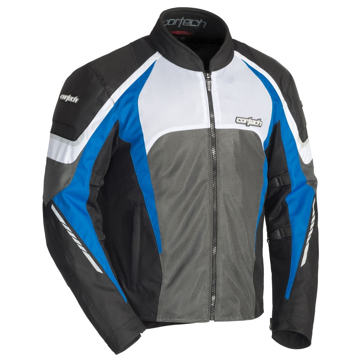 Cortech GX Sport Air 5 Men's Textile Street Motorcycle Jacket - Black/Blue X-Large