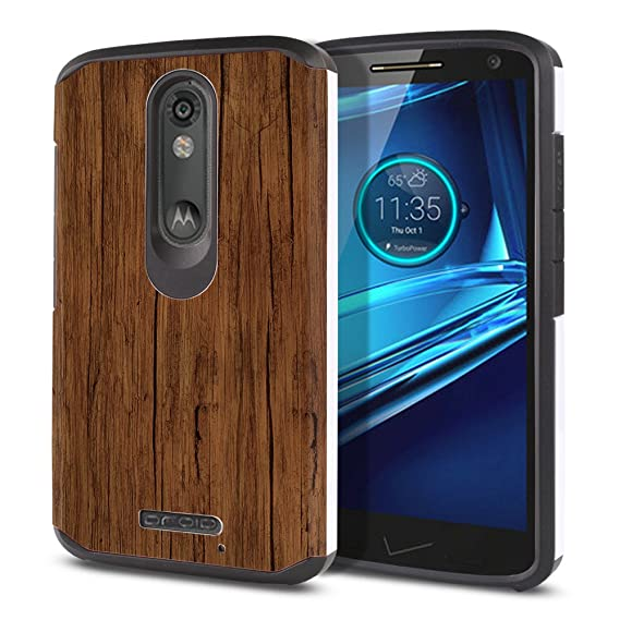 FINCIBO Case Compatible with Motorola Droid Turbo 2 Kinzie XT1585 X Force XT1580, Dual Layer