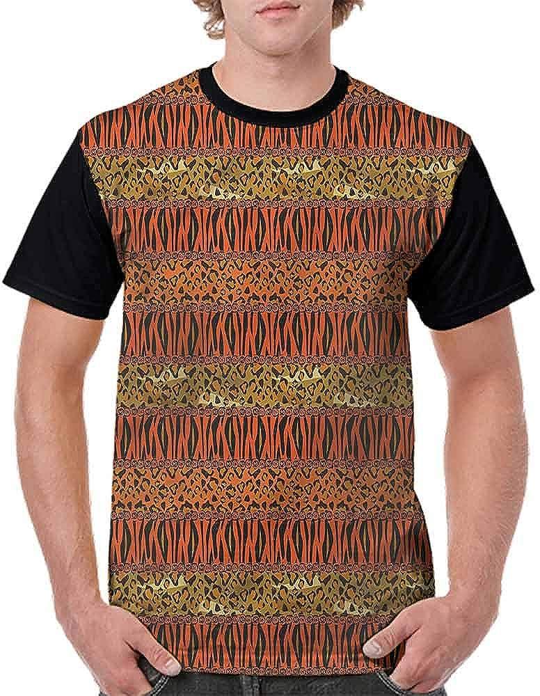 Unisex T-Shirt,Cheetah and Tiger Skin Fashion Personality Customization