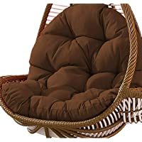 Swing Hanging Basket Seat Cushion Thickened Hanging Egg Hammock Chair Pads for Home Patio Garden 31 x 47 inch Coffee