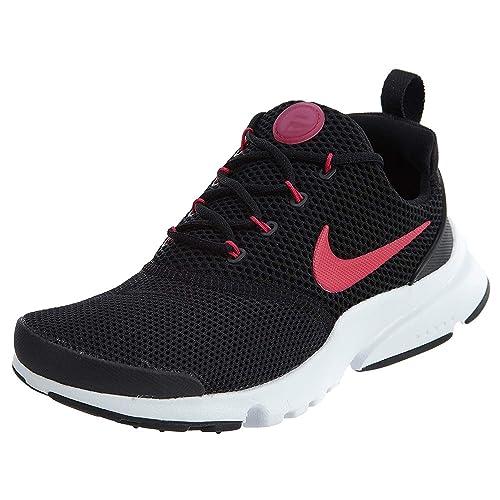 b61f88fc74f8 Nike Girls Presto Fly (GS) Running Shoe Black Rush Pink-White 7Y   Amazon.co.uk  Shoes   Bags