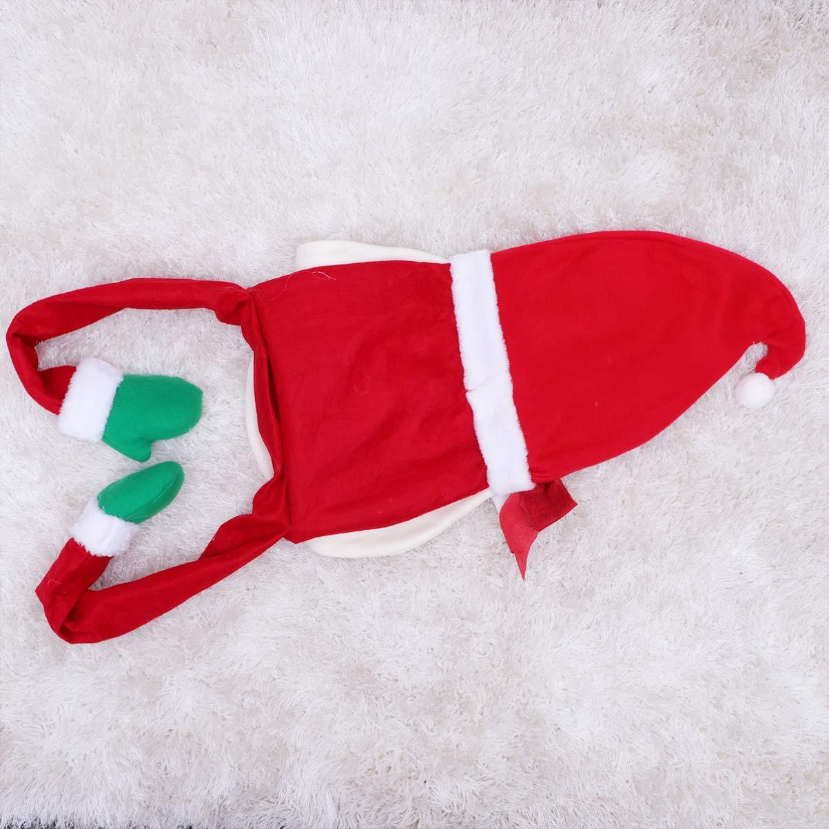 per Le Vacanze Invernali e Il Giorno del Ringraziamento Amosfun Capodanno Puntale per Albero di Natale a Forma di Babbo Natale