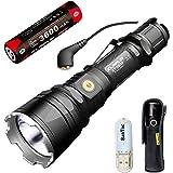 Klarus xt12gt magnetic-charging longue portée Lampe torche tactique LED Cree 603M xhp35Hi D41600Lumens Lampe torche avec 3600mAh batterie rechargeable et thenines USB Lumière