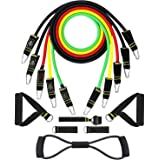 GUDEHOLO 150LBS 12pcs Workout Resistance Bands Set with Handles for Men Heavey Exercise Cords Fitness for Arms and…