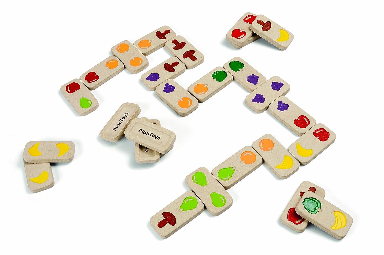 Plan Toys Dominó, diseño de fruta y verdura