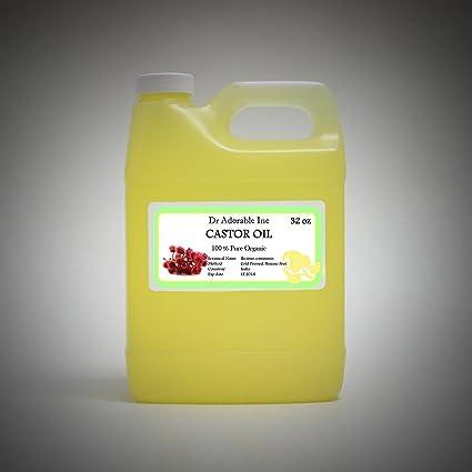 Aceite de ricino Virgen Orgánico Puro prensado en frío 32 oz/1 Quart